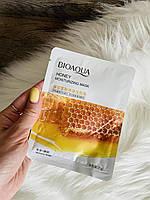 Тканинна маска для обличчя bioaqua з медом