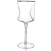 Бокал для вина TENET 400мл с золотым ободком