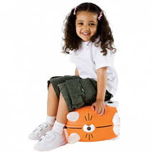Чемодан детский на колесах Тигр Tipu Trunki TRUT085, фото 2