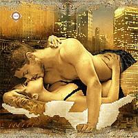 """Схема для частичной вышивки бисером """"Поцелуй в ночном городе"""""""
