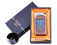 Зажигалка в подарочной коробке Украина (Острое пламя) №UA-20 Bronze
