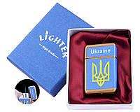 Запальничка в подарунковій коробці Україна (Гостре полум'я) №UA-21-3