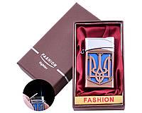 Запальничка в подарунковій коробці Україна (Гостре полум'я) №UA-24 Bronze