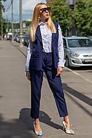 Женский костюм с удлиненным жилетом и брюками 44-52 размер разные цвета
