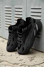 Рефлектив   Жіночі кросівки в стилі Adidas Yeezy Boost 700 V2 Vanta, фото 3