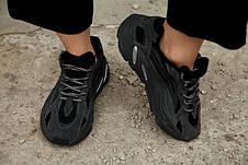 Рефлектив | Женские кроссовки в стиле Adidas Yeezy Boost 700 V2 Vanta, фото 3