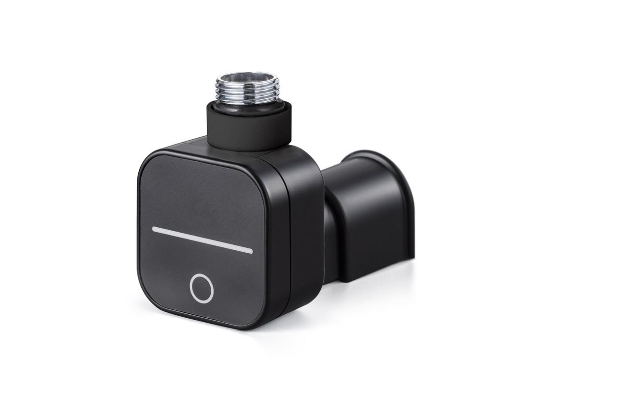 Чёрный ТЭН HeatQ NEX Base MS Black: регулятор 30-60С +таймер до 8ч.+ LED + маскировка провода.
