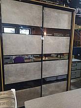 Шафа-купе Максі 1700х600х2400 Модель-4 бетон св./дзерк. графіт дуб золотий (Комфорт)