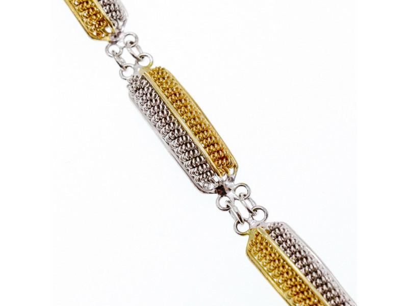 Стильний Срібний браслет з нотами позолоти