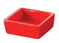 Салатник квадратный красный 65х65 мм 50 мл Forest Fudo 754090