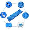 Каремат надувний 220 см х 56 х 6 см / Надувний матрац для сну / Килимок для кемпінгу, фото 4