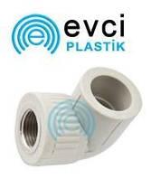 Колено (угол) ППР с внутренней резьбой 25 х 3/4 для полипропиленовых труб Evci Plastik