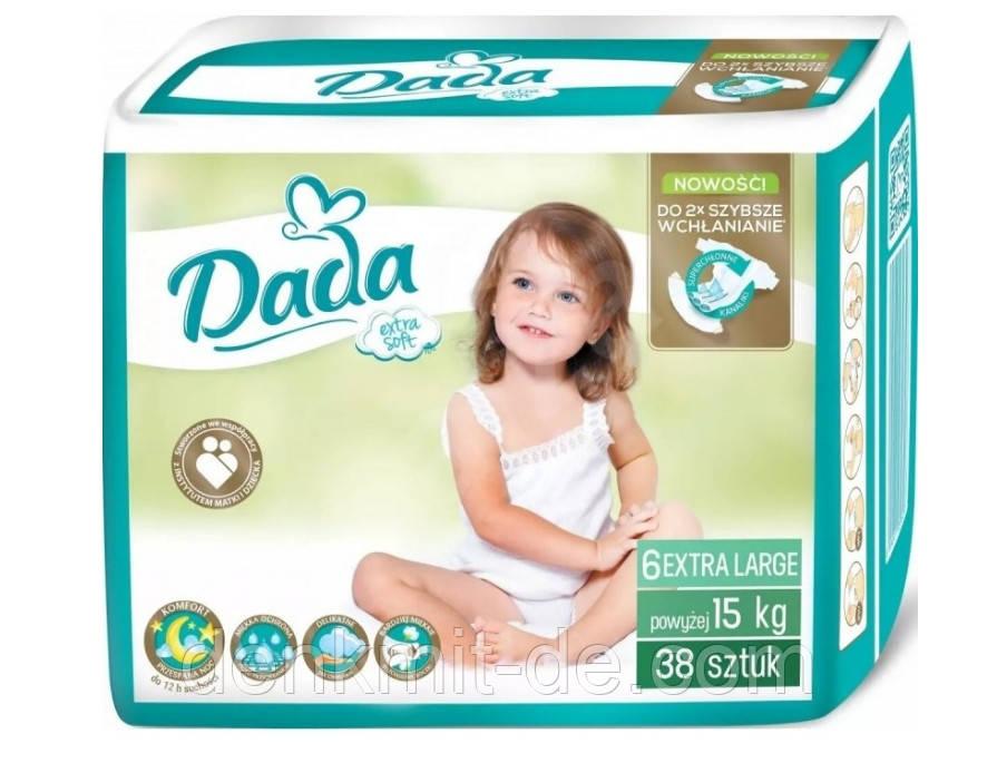Підгузники Dada Extra Soft 6 (15+ кг) 38 шт Польща