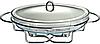 Марміт Edenberg EB-1443 настільний загартоване скло 3.2 л   Страва з підігрівом на підставці, фото 3