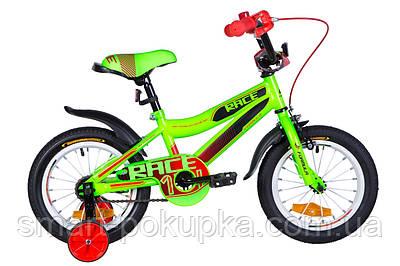 """Велосипед 14"""" Formula RACE 2021 (зелено-чорний з червоним (м))"""