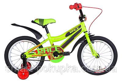 """Велосипед 16"""" Formula RACE 2021 (зелено-чорний з червоним (м))"""