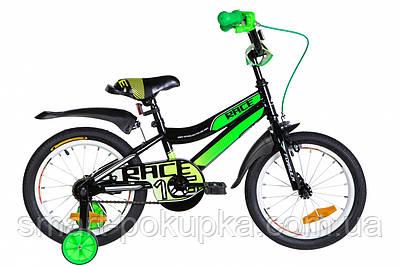 """Велосипед 16"""" Formula RACE 2021 (чорно-зелений з білим)"""