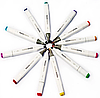 Маркери для скетчинга 80 пр. Білий | Набір фломастери для скетчинга скетч маркери, фото 5