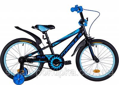 """Велосипед 18"""" Formula SPORT 2021 (чорно-синій з блакитним (м))"""