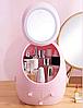 Органайзер для косметики W-2 с LED зеркалом 4 секции Розовый   Кейс для косметики Бьюти Бокс, фото 5