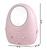Органайзер для косметики W-2 с LED зеркалом 4 секции Розовый   Кейс для косметики Бьюти Бокс, фото 6