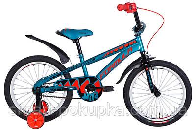 """Велосипед 18"""" Formula WILD 2021 (бірюзово-чорний з оранжевим)"""