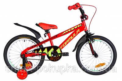 """Велосипед 18"""" Formula WILD 2021 (червоно-чорний з салатовим)"""