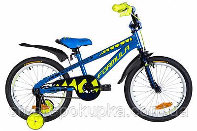"""Велосипед 18"""" Formula WILD 2021 (синій з жовтим)"""