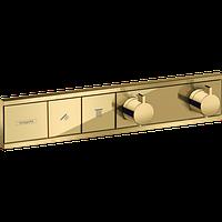 Hansgrohe RainSelect Термостат прихованого монтажу на 2 споживача, поліроване золото (15380990), фото 1