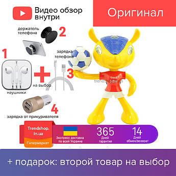 Портативна Bluetooth колонка AU-808 міні-динамік миша MP3 аудіо колонка, жовта