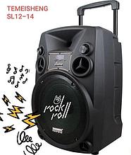 Колонка Temeisheng SL12-14 150Вт беспроводная с видеомикрофоном-суфлером   Караоке спикер bluetooth