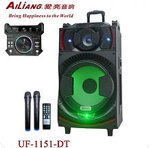 """Акустическая система Ailiang UF-1151 -DT аккумулятор Bluetooth с микрофонами 15"""" 60Вт   Беспроводная колонка"""