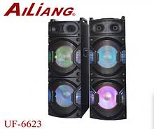 Акустическая система Ailiang UF-6623K с микрофонами Bluetooth 160Вт   Аудиосистема с пультом