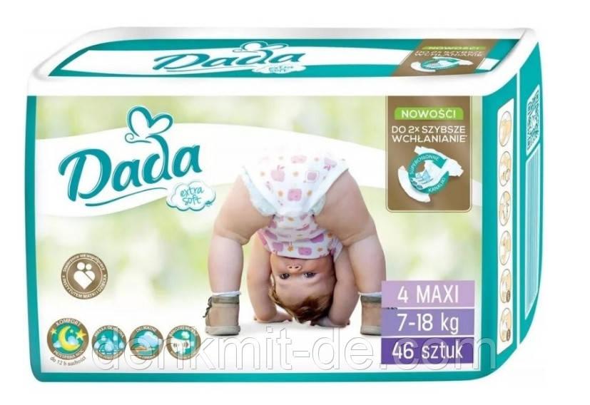 Підгузники Dada Extra Soft 4 (7-18 кг) 46 шт Польща