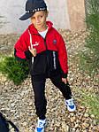Дитячий костюм, турецька двунить, р-р 128-134;140-146;152-158 (червоний), фото 4