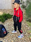 Детский костюм, турецкая двунить, р-р 128-134;140-146;152-158 (красный), фото 2