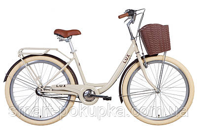 """Велосипед 26"""" Dorozhnik LUX планет. 2021 (бежевий)"""