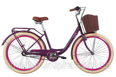 """Велосипед 26"""" Dorozhnik LUX планет. 2021 (сливовий (м))"""