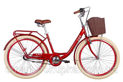 """Велосипед 26"""" Dorozhnik LUX планет. 2021 (рубіновий)"""