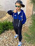 Дитячий костюм, турецька двунить, р-р 128-134;140-146;152-158 (синій), фото 2
