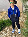 Дитячий костюм, турецька двунить, р-р 128-134;140-146;152-158 (синій), фото 3