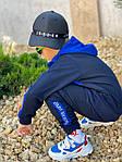 Дитячий костюм, турецька двунить, р-р 128-134;140-146;152-158 (синій), фото 4