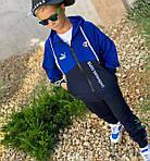 Дитячий костюм, турецька двунить, р-р 128-134;140-146;152-158 (синій), фото 6