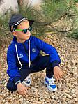 Дитячий костюм, турецька двунить, р-р 128-134;140-146;152-158 (синій), фото 7