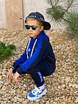Дитячий костюм, турецька двунить, р-р 128-134;140-146;152-158 (синій), фото 8