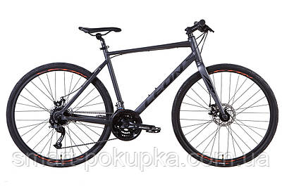"""Велосипед 28"""" Leon HD-80 2021 (графітовий з чорним (м))"""