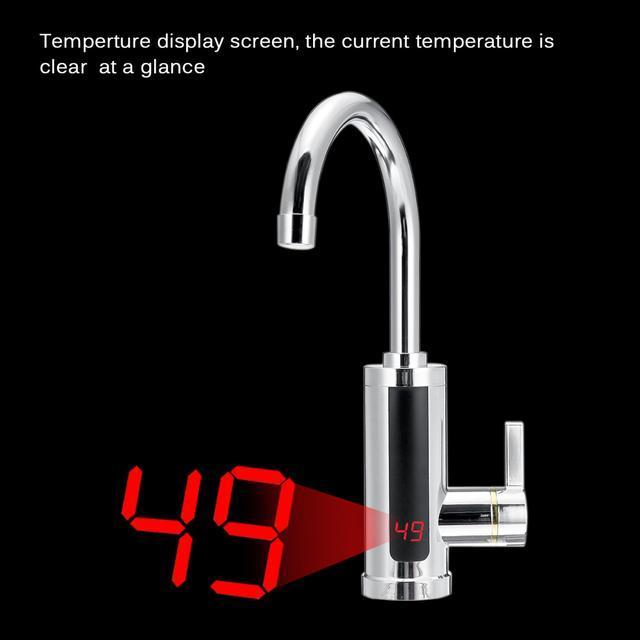 Проточной водонагреватель с Led экраном Delimano RX-011. Кран с вертикальным экраном.