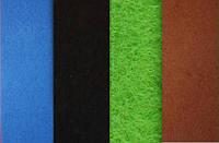 Набор фетр листовой_синий, черный, зеленый, коричн 1мм (мягкий)
