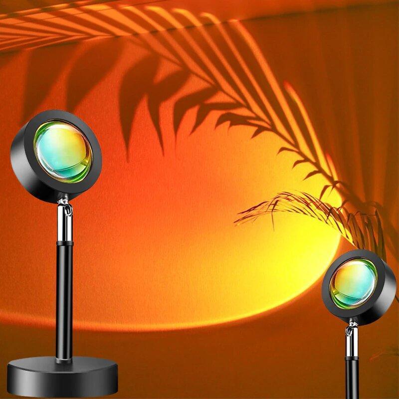 Лампа LED для селфи эффект солнца RGB + пульт