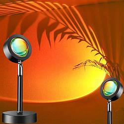 Лампа LED для селфи ефект сонця RGB + пульт